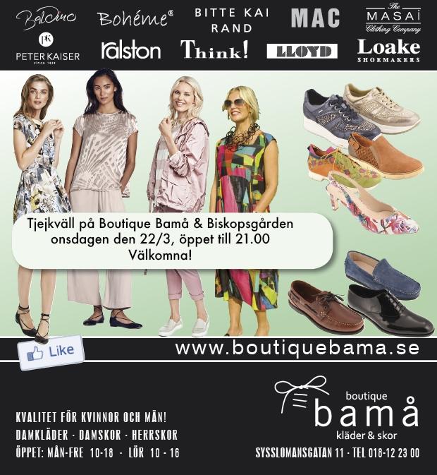 Tjejkväll onsdag 223, öppet till 21.00! – Boutique Bamå